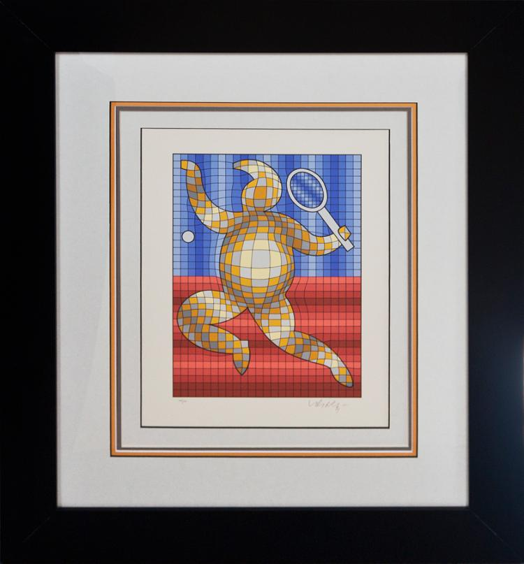 Victor Vasarely Limited Edition Serigraphs Tennis