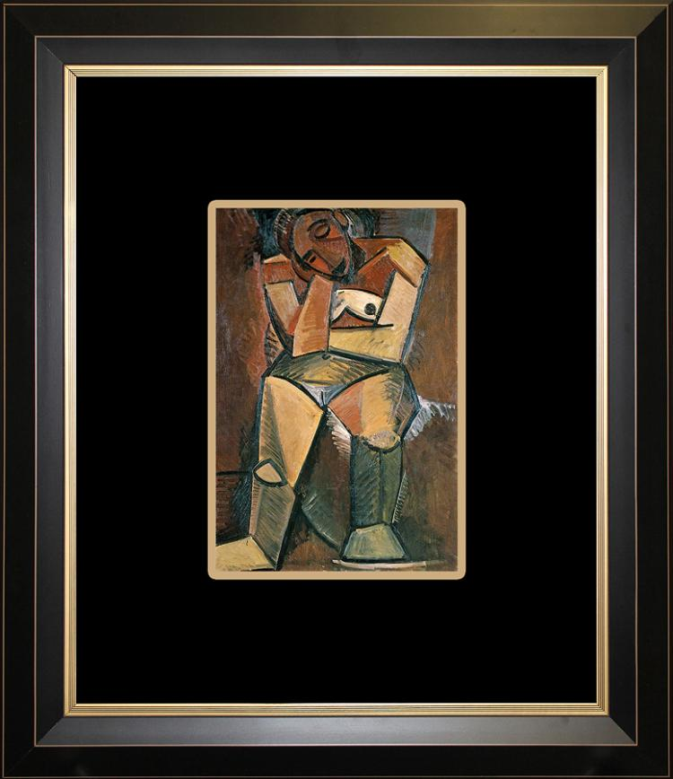 Pablo Picasso Seated Woman Color Plate Lithograph over 25 years ago
