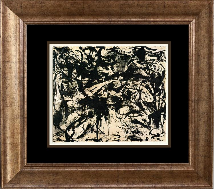 Jackson Pollock color plate lithograph