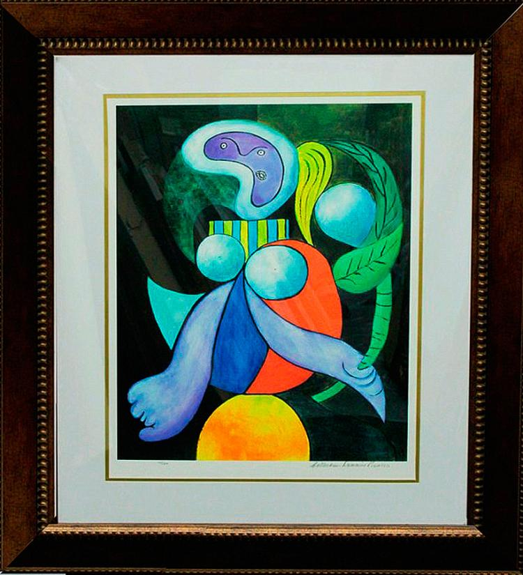 Woman and Flower Limited Edition after Pablo Picasso