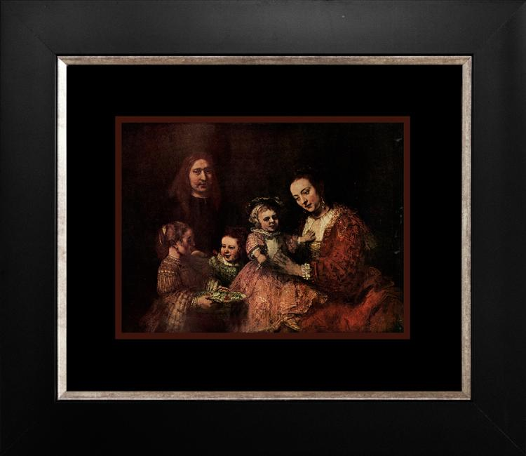 Rembrandt color plate lithograph 60 years ago