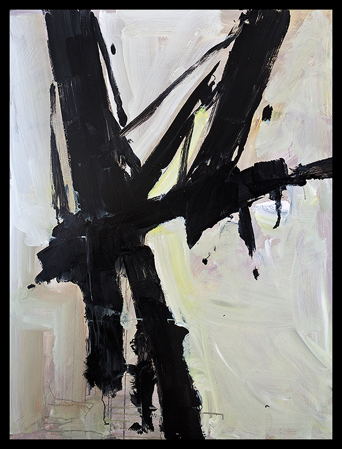 Original abstract on board  48x36 inches Michael Schofield