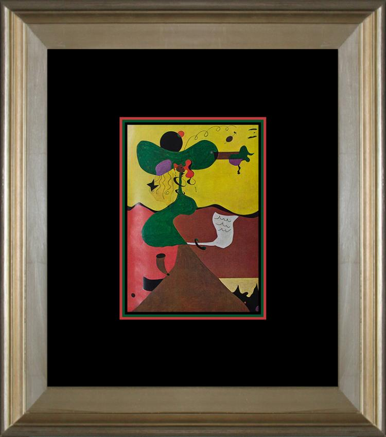 Joan Miro Original Color Plate Lithograph 1968