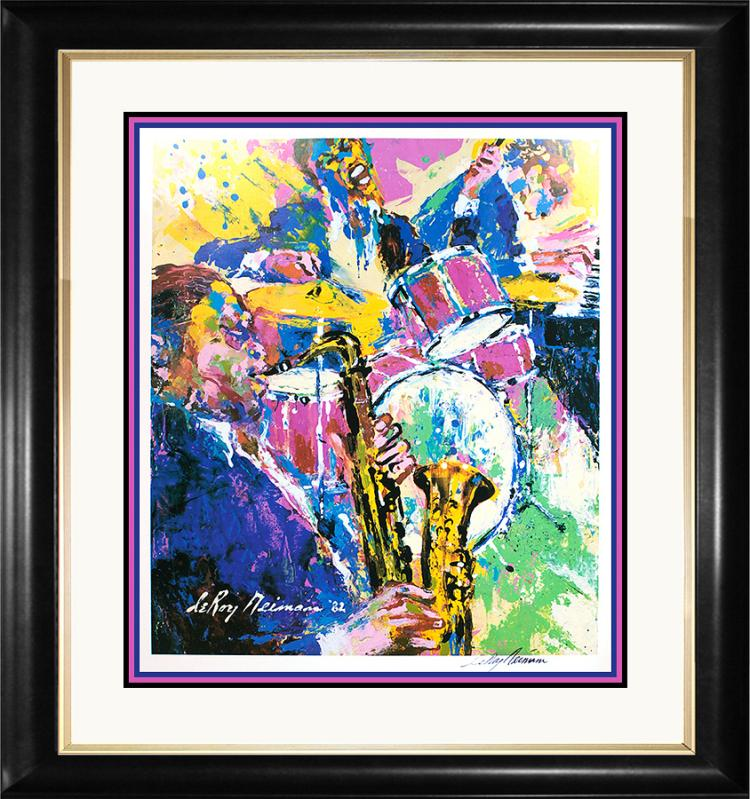 Le Roy Neiman Hand Signed Custom Framed Lithograph