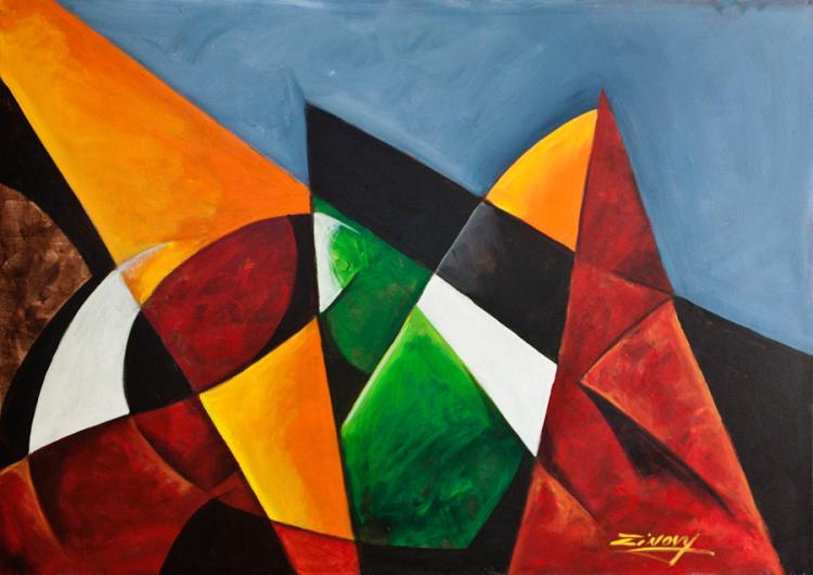 Zinovy Original Oil on canvas Abstract