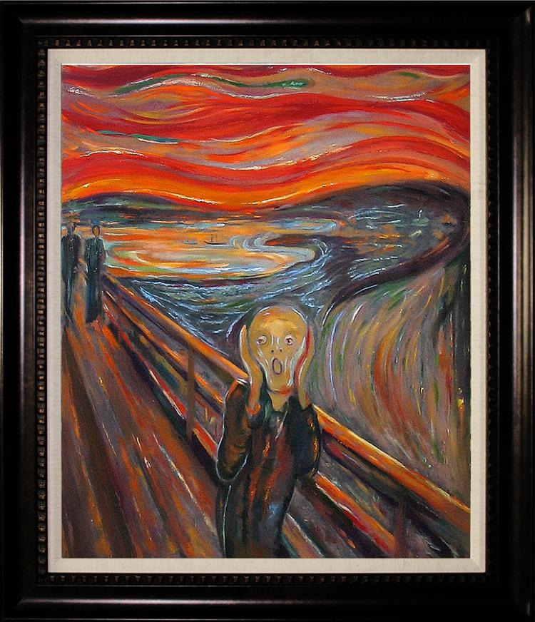 After Edvard Munch Limited Hand Embellished Giclee The Scream