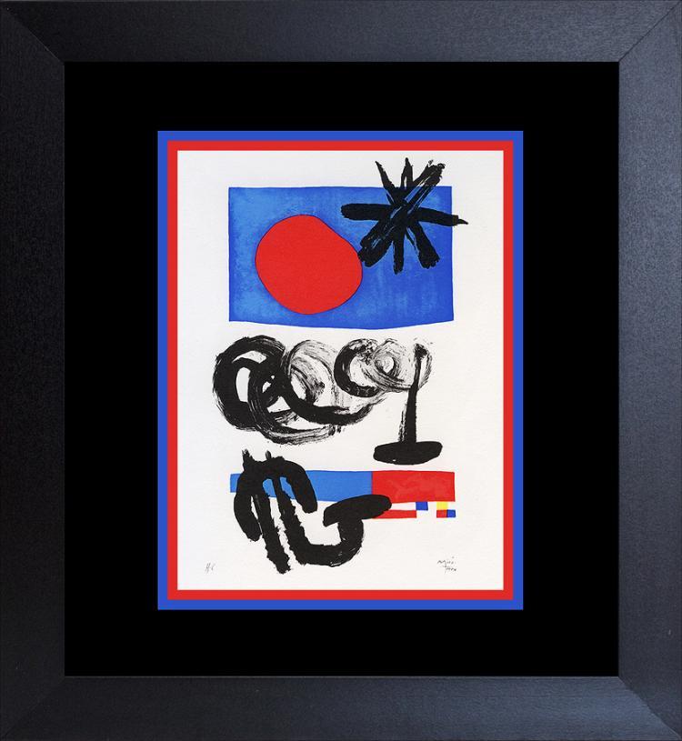 Joan Miro Color Plate Lithograph 1962 Maeght Paris