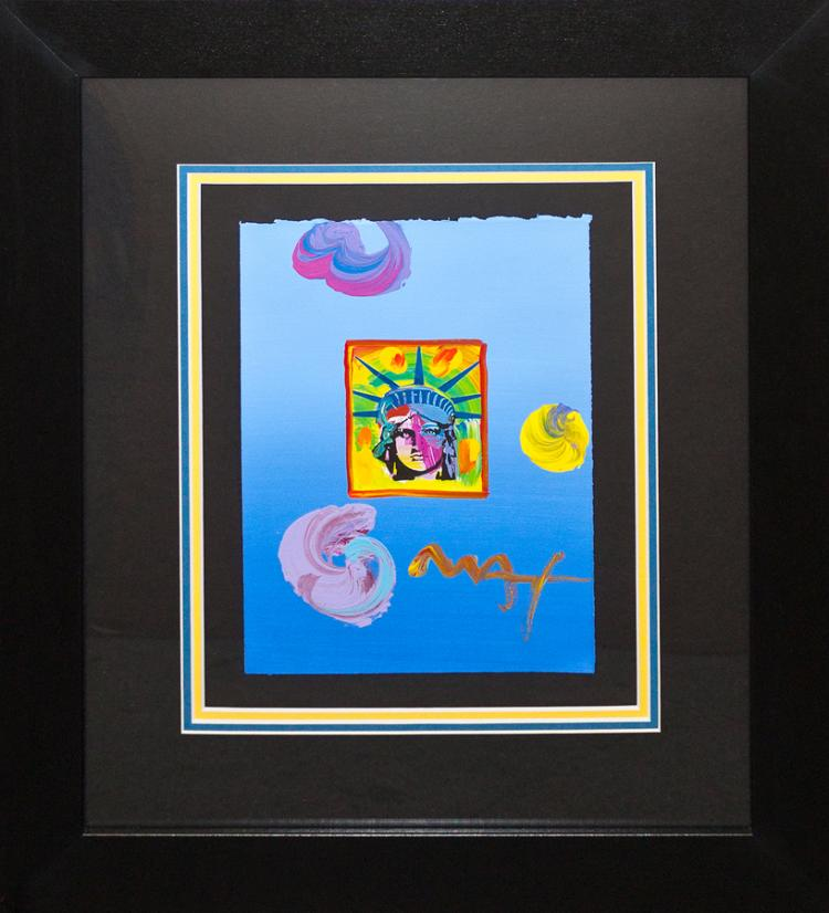 Peter Max Original Mixed Media Liberty