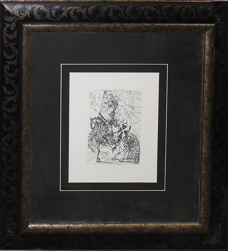 Salvador Dali-Limited Edition Etching Horseman