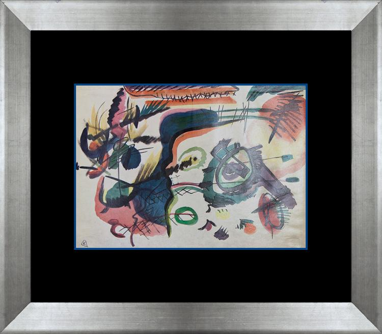 Kandinsky color plate lithograph circa 1960's.
