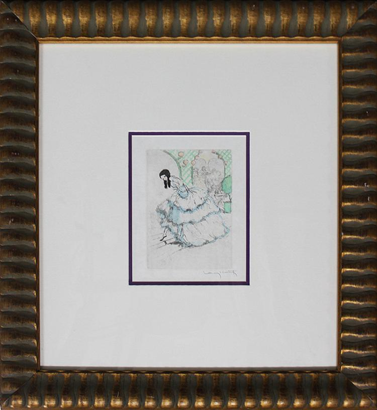 Louis Icart-Hand Colored Etching Hand Signed by artist 1933