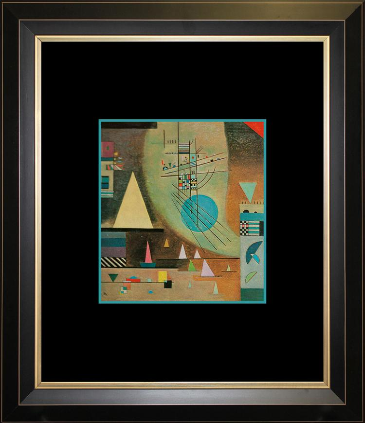 Wassily Kandinsky Silent Color Plate Lithograph over 50 years ago