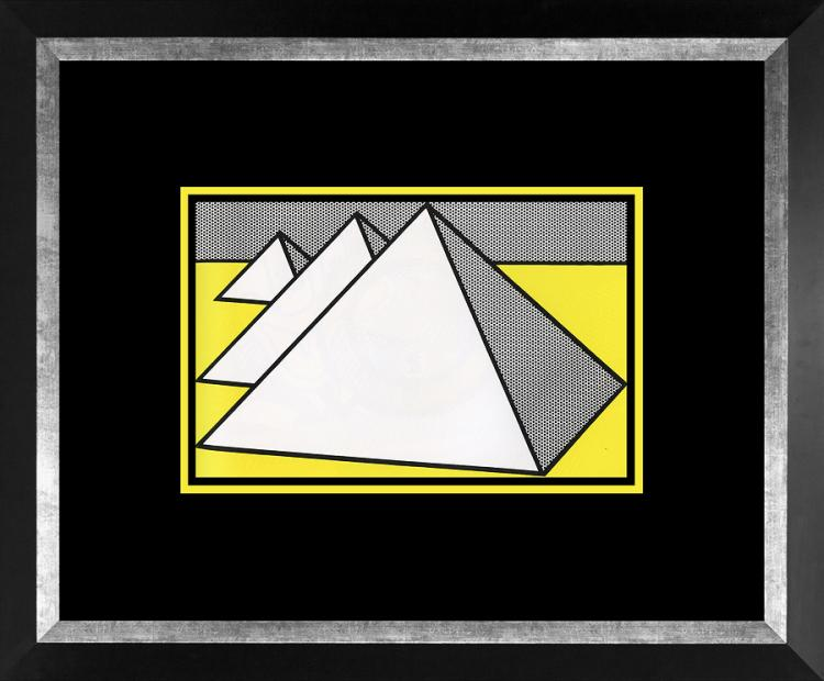 Roy Lichtenstein 1996 Pyramid Lithograph
