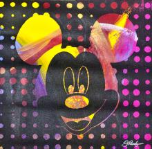 Mickey Mouse Mixed Media Original on canvas Hand signed by the artist Gail Rodgers Disney