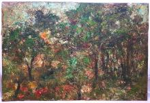 Jan Cybis  1897-1972  Original Oil on wood from 1950. Impressionist Colorist Movement in Poland