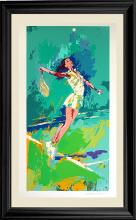 LeRoy Neiman Sweet Serve Limited Edition Serigraph Tennis