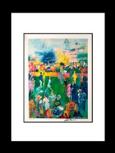 Le Roy Neiman Derby Day Paddock Lithograph hand signed