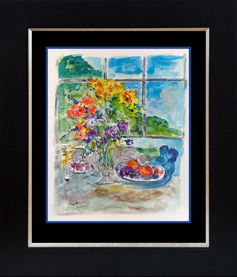 Original on canvas  attributed to Marc Chagall