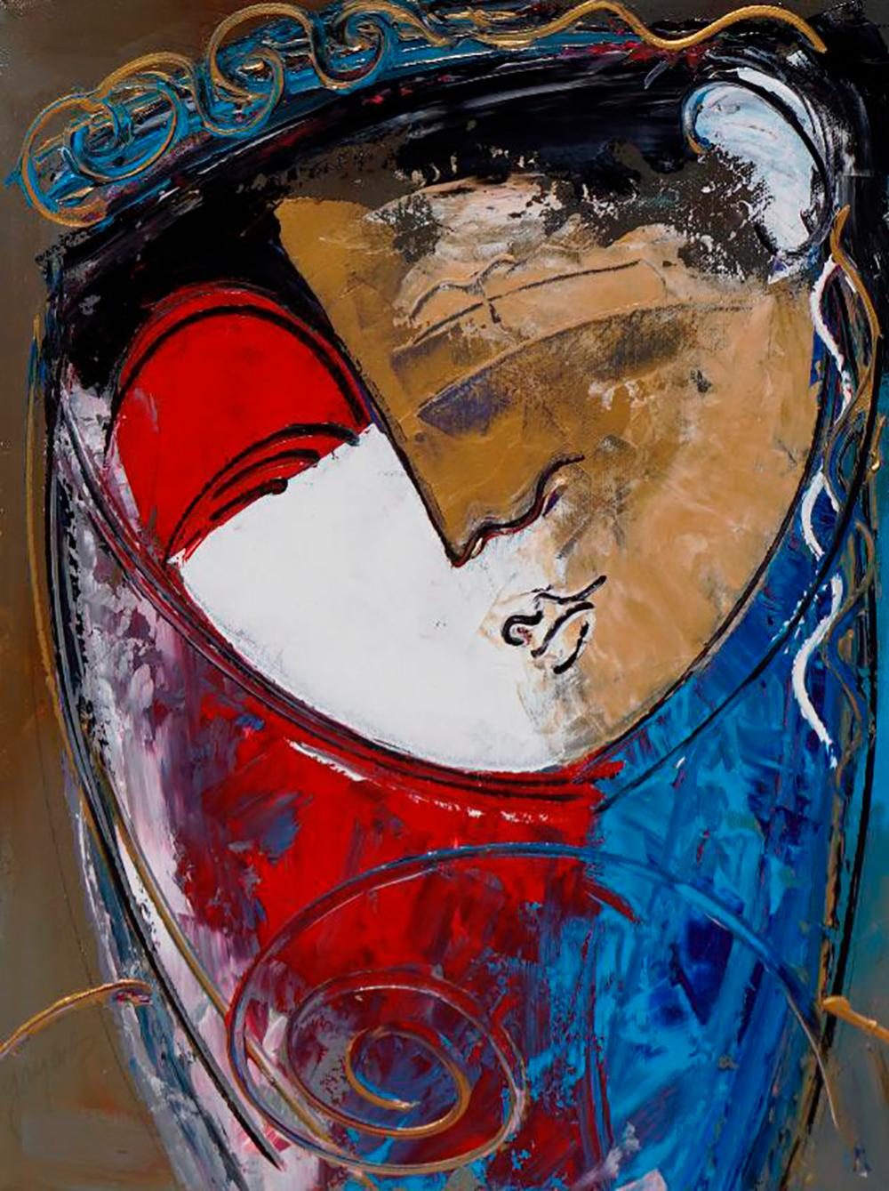 Gaylord Soli mixed media Limited Edition on canvas  30x24  approx.
