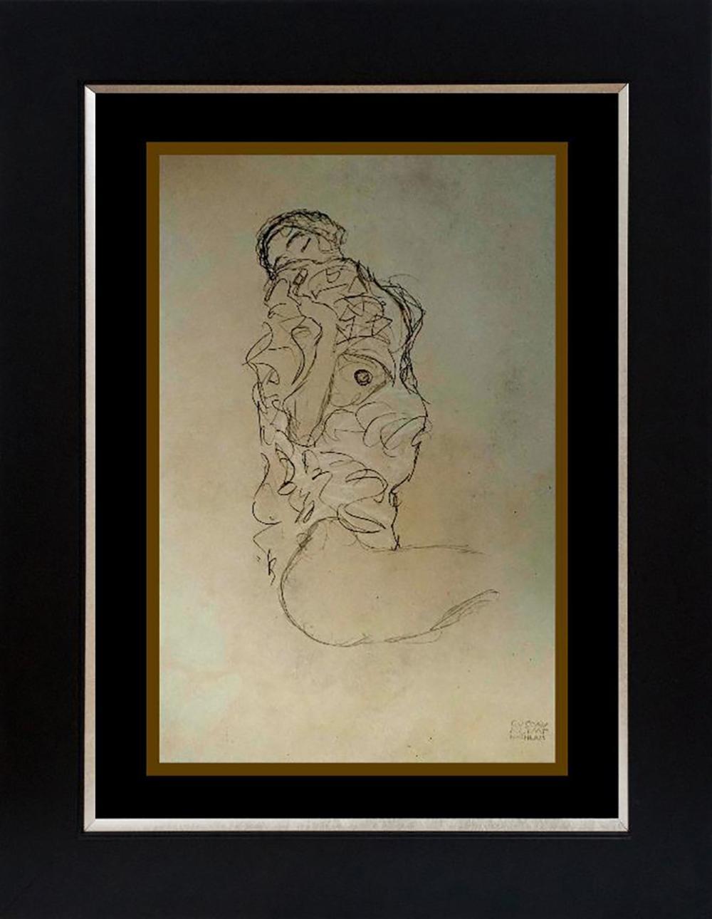 Gustav Klimt lithograph from 1967
