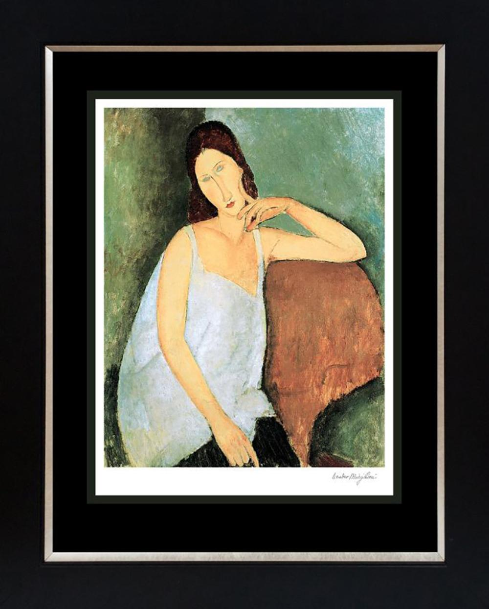 After Modigliani Jeanne Hebuterne Lithograph