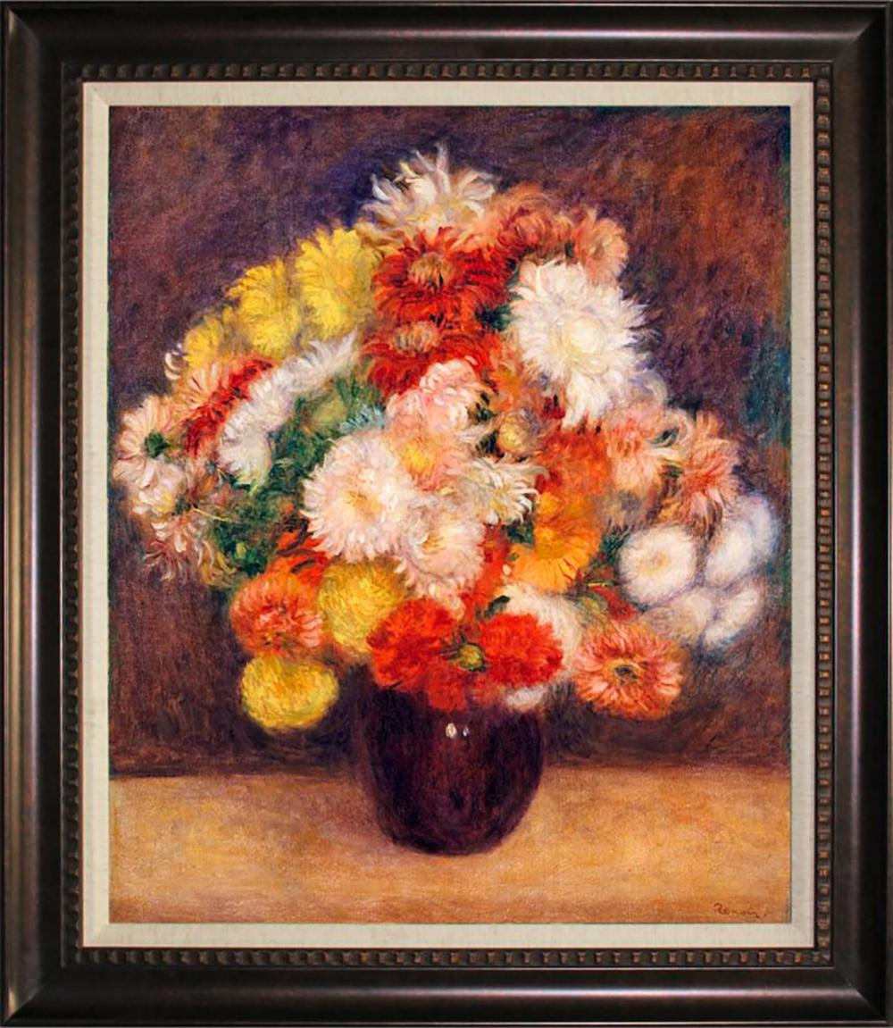 Pierre Auguste Renoir Still Life Hand Embellished Giclee on Canvas