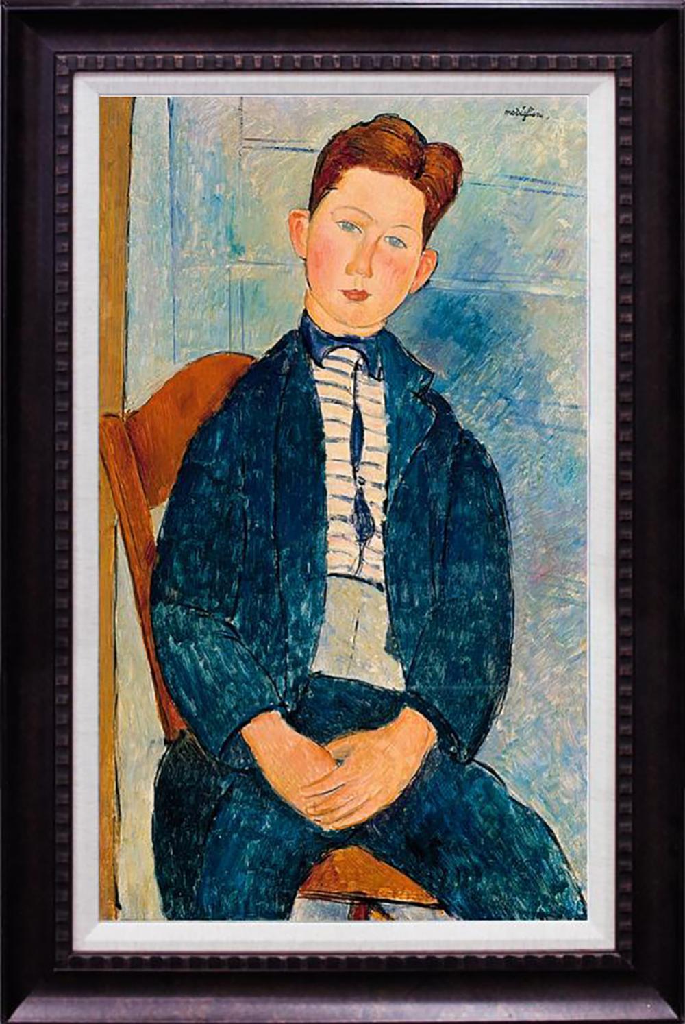 Hand Embellished Modigliani Giclee