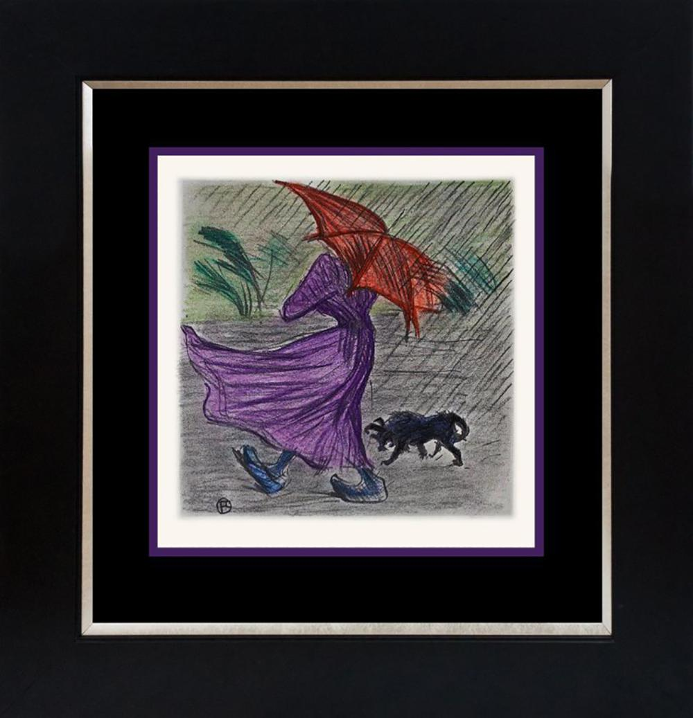 Toulouse Lautrec Hand Colored Lithograph from 1966