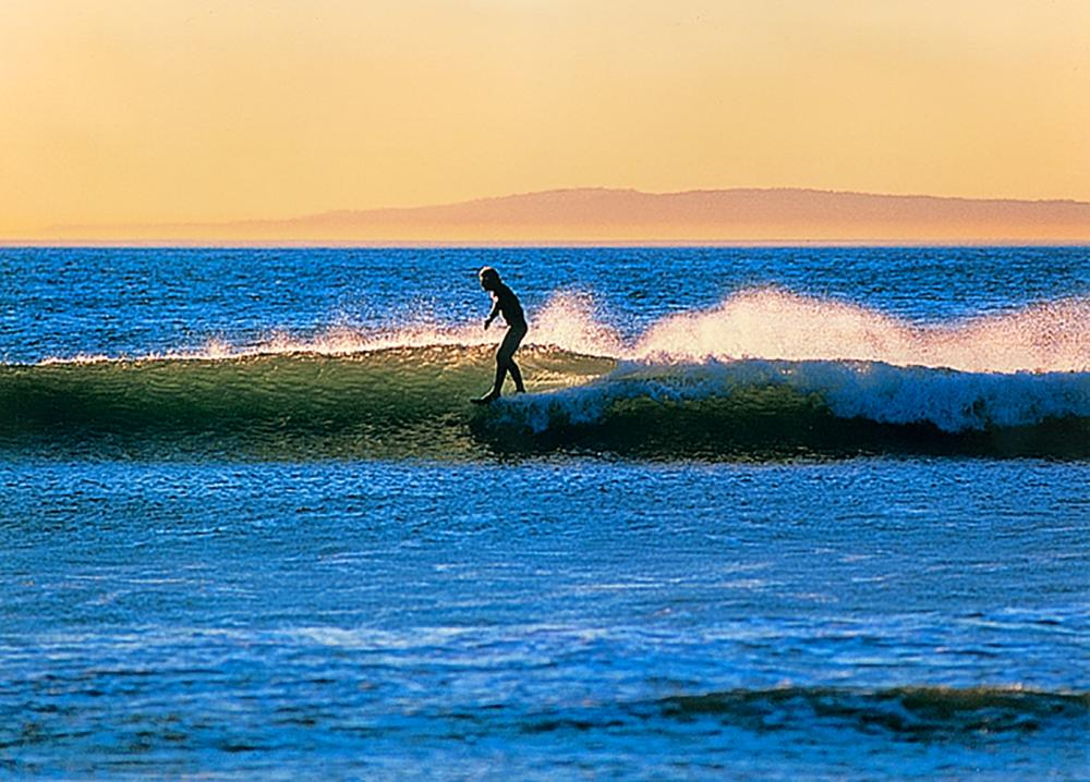 Rodionoff Limited Edition Photography on canvas-Sandy Sky Surfer approx. 40 on long dimension