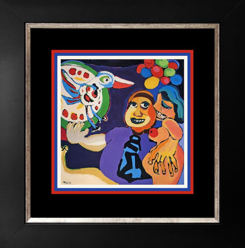 Karel Appel The Happy Bird Day Lithograph from 1998