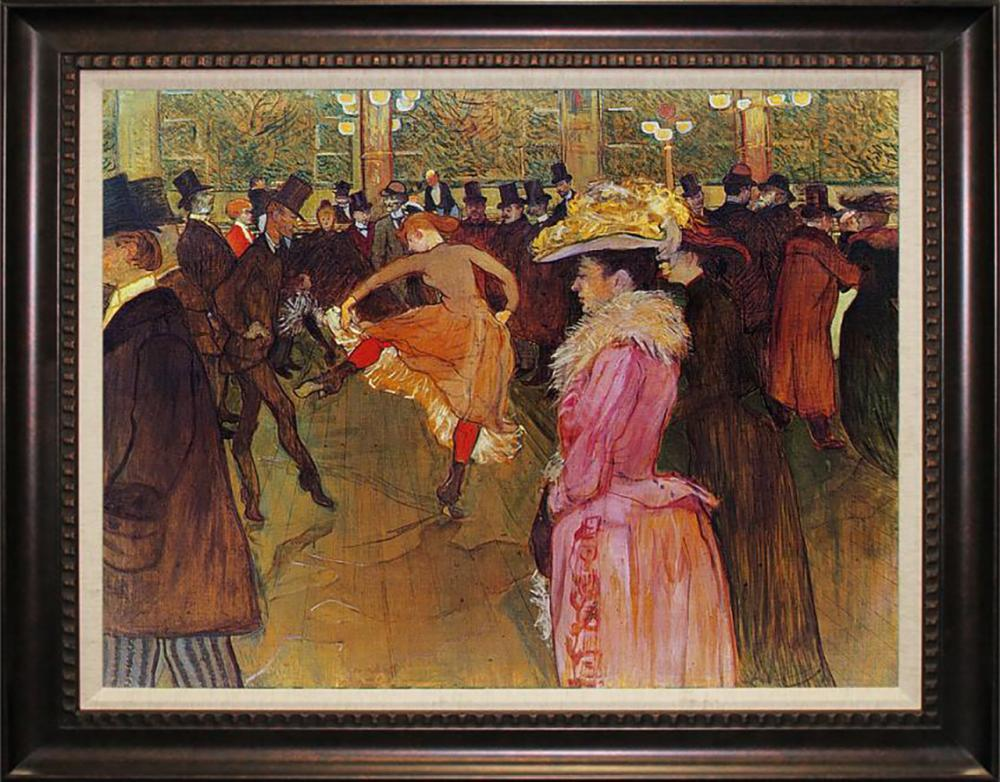 Toulouse Lautrec Moulin Rouge II embellished