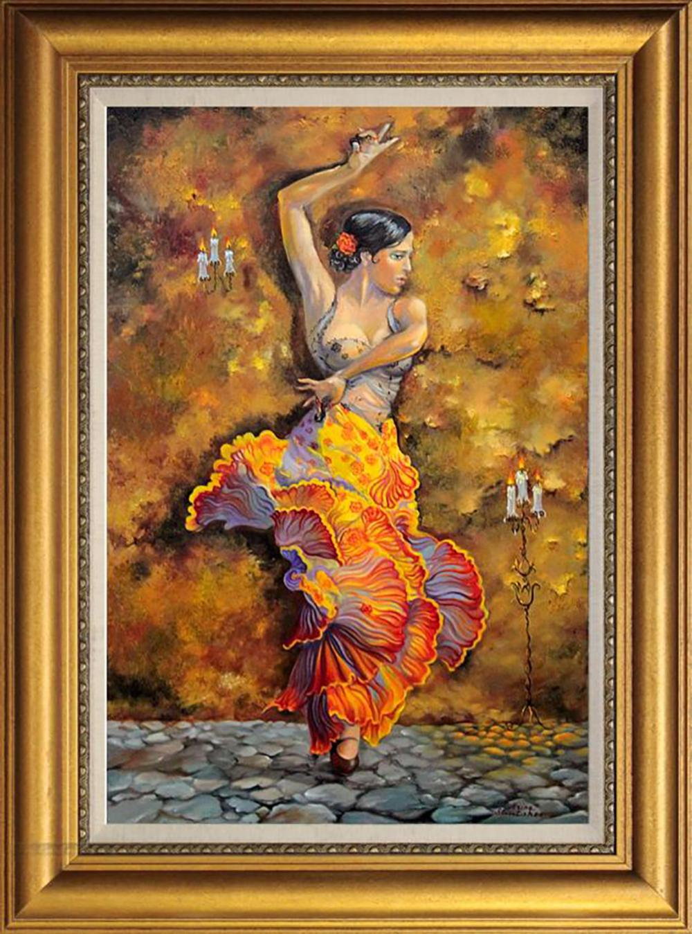 Mixed media on canvas by Arina