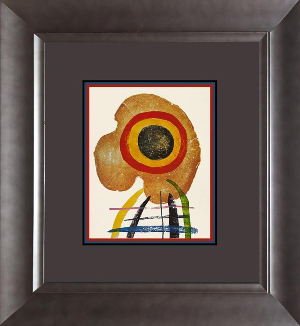 Joan Miro Lithograph 1972 Paris.