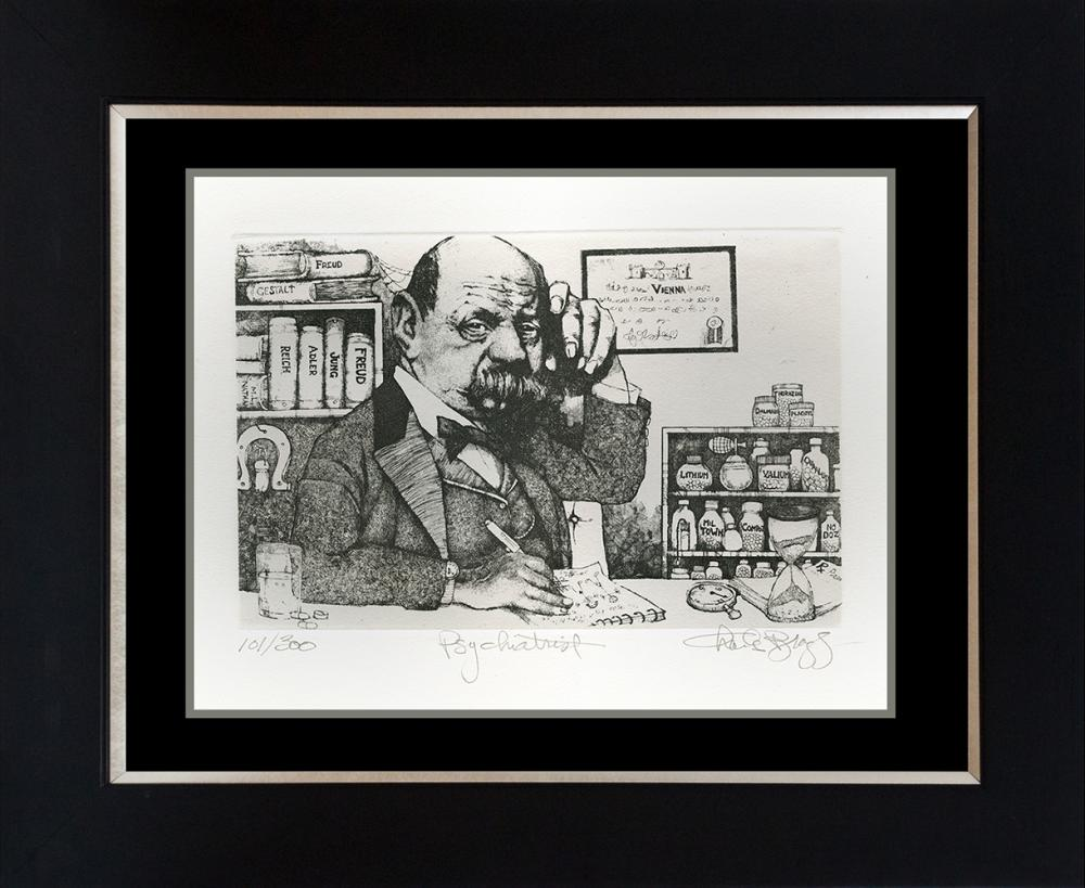 Charles Bragg The Psychiatrist Limited Edition Etching
