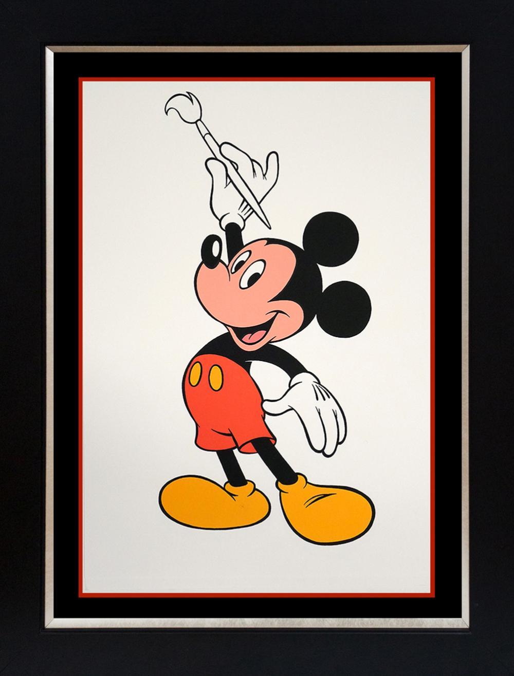 Walt Disney Lithograph Mickey Mouse