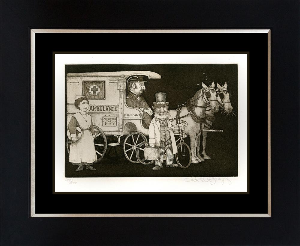 Charles Bragg The Doctor Limited Edition Etching