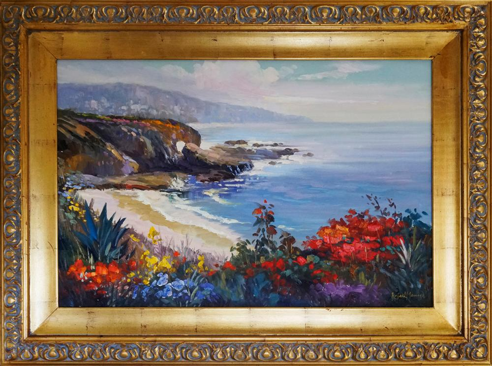 Original oil on canvas by Rafael  Approx   40x28 inches