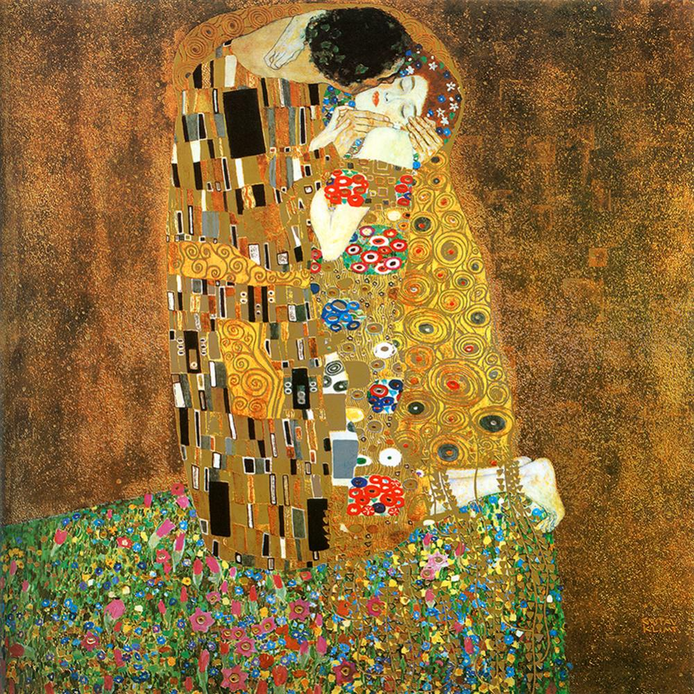 The Kiss Gustav Klimt Limited Edition Hand Embellished Giclee on canvas