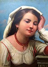 Eugene de Blaas original oil on wood panel