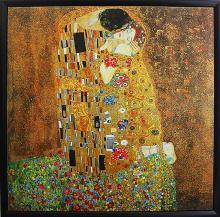 The Kiss After Gustav Klimt