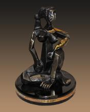 Pablo Picasso Sitting Woman Patinated Bronze Sculpture