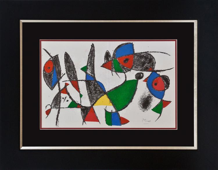 Joan Miro Lithograph hand signed by the artist.