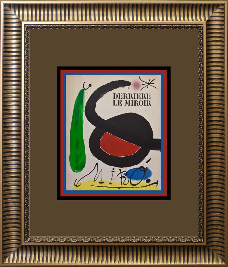 Joan Miro Original Lithograph Derriere Le Miroir 1967 Paris France Maeght