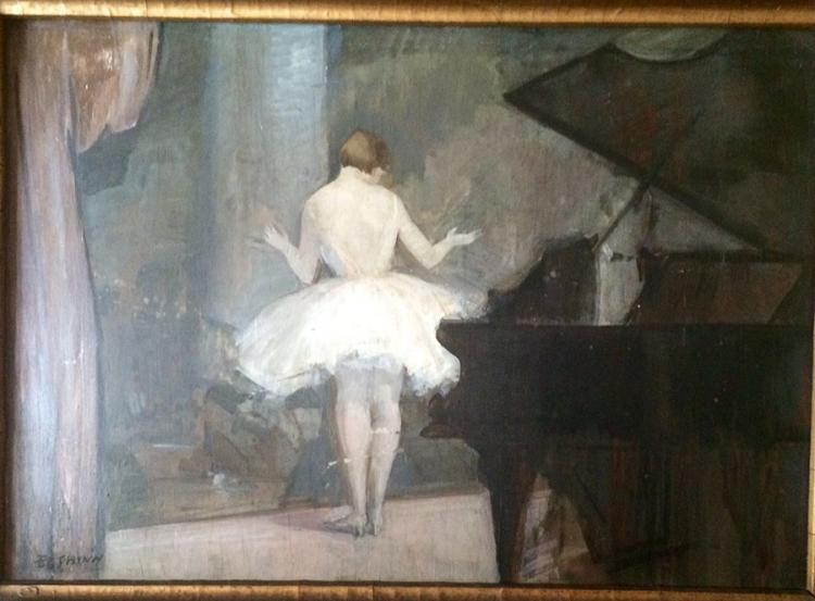 Everett Shinn Original oil on wood panel 57x40 cm