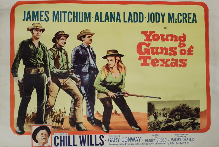 Young Guns of Texas Vintage Movie Poster