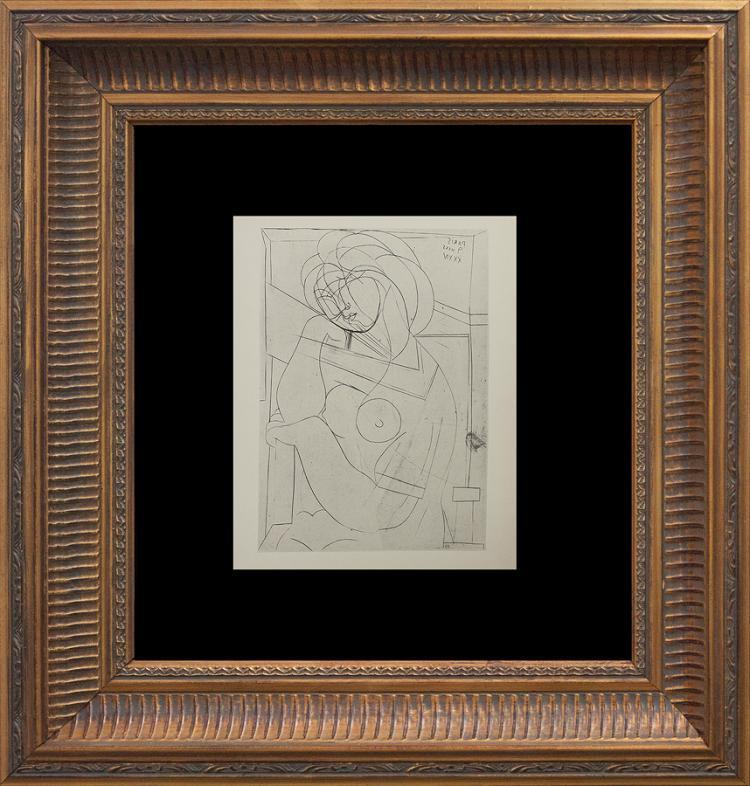 Pablo Picasso Original Lithograph 1956 Mourlot Press Vollard Suite
