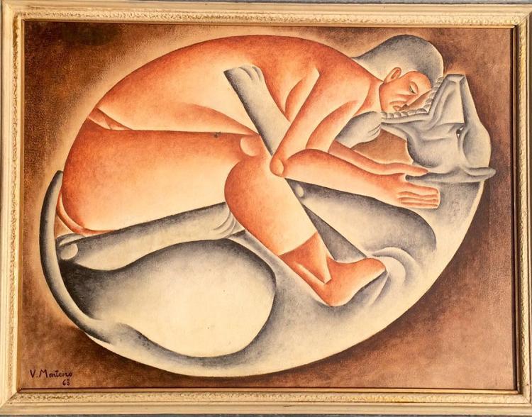 Vincente do Rego Monteiro  Original Oil on canvas   73 x 54 cm
