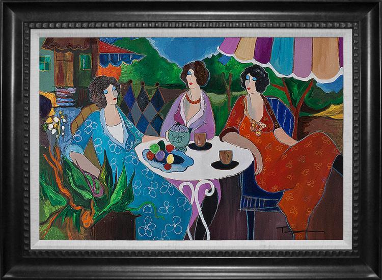 Tarkay Mixed Media on canvas
