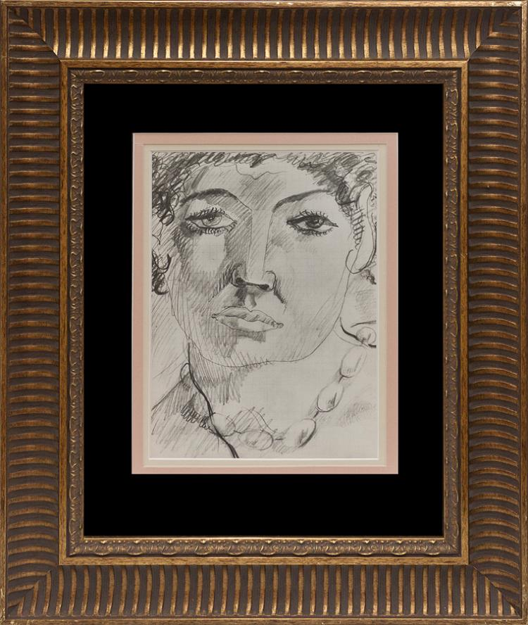 Pablo Picasso The Artist's Model Lithograph Heliogravure from 1951 Limited edition Mourlot Brothers