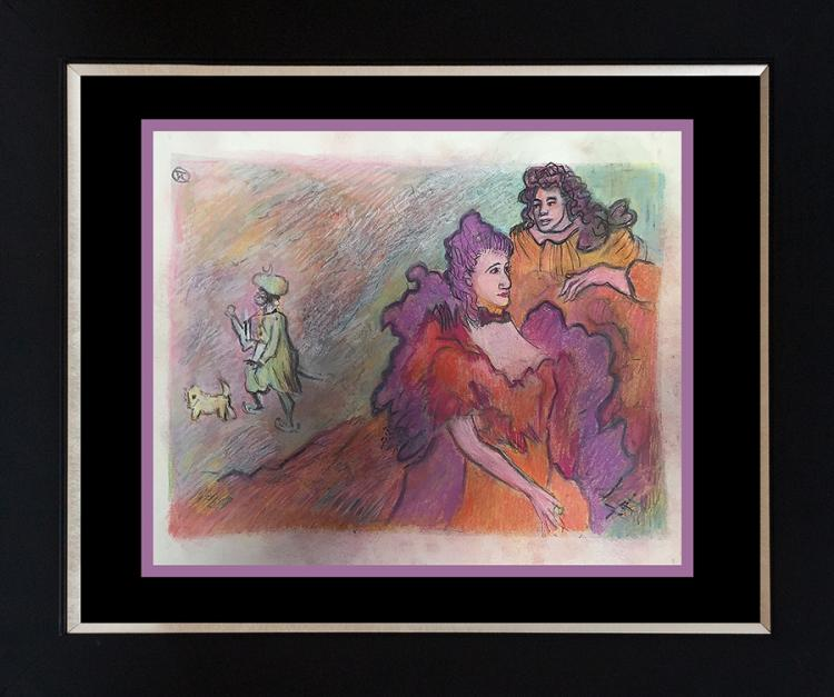 Toulouse Lautrec Hand Colored Lithograph